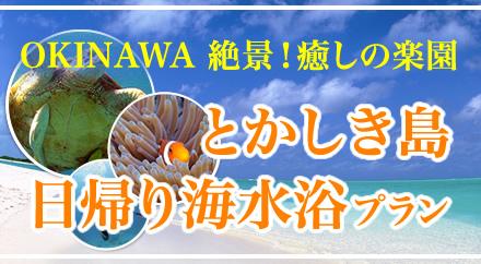 とかしき島 日帰り海水浴プラン