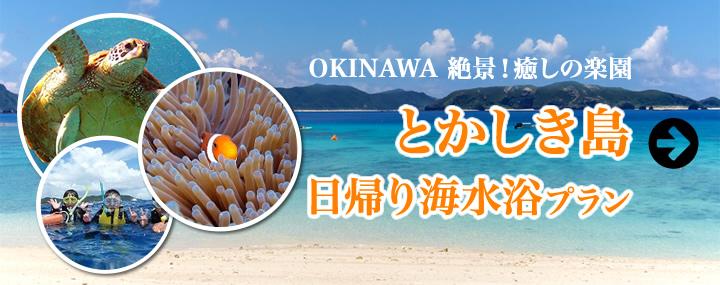 渡嘉敷(とかしき)島 日帰り海水浴プラン